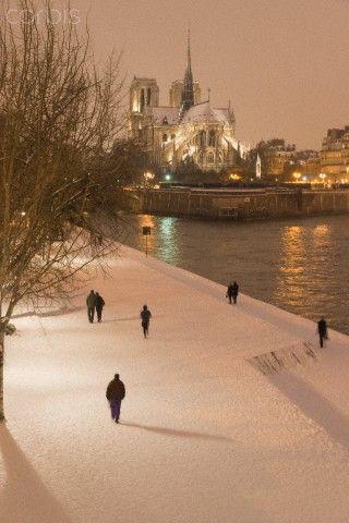 Paris (Notre Dame) in the Snow