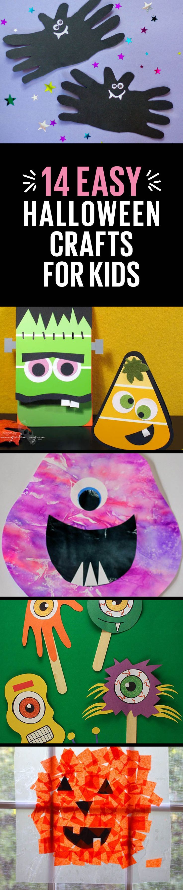 Perfect kids' crafts to get the house ready for Halloween.