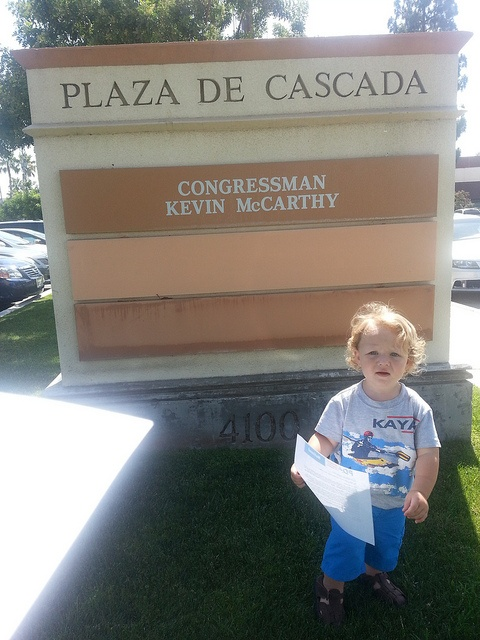 Cheryl Tierce with toddler in tow made staff more approachable!, letter drop to Rep Kevin McCarthy (CA-22)