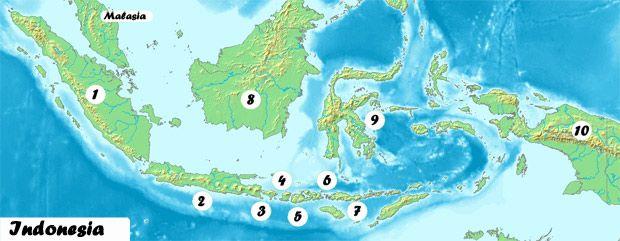 Amplia el Mapa de Indonesia