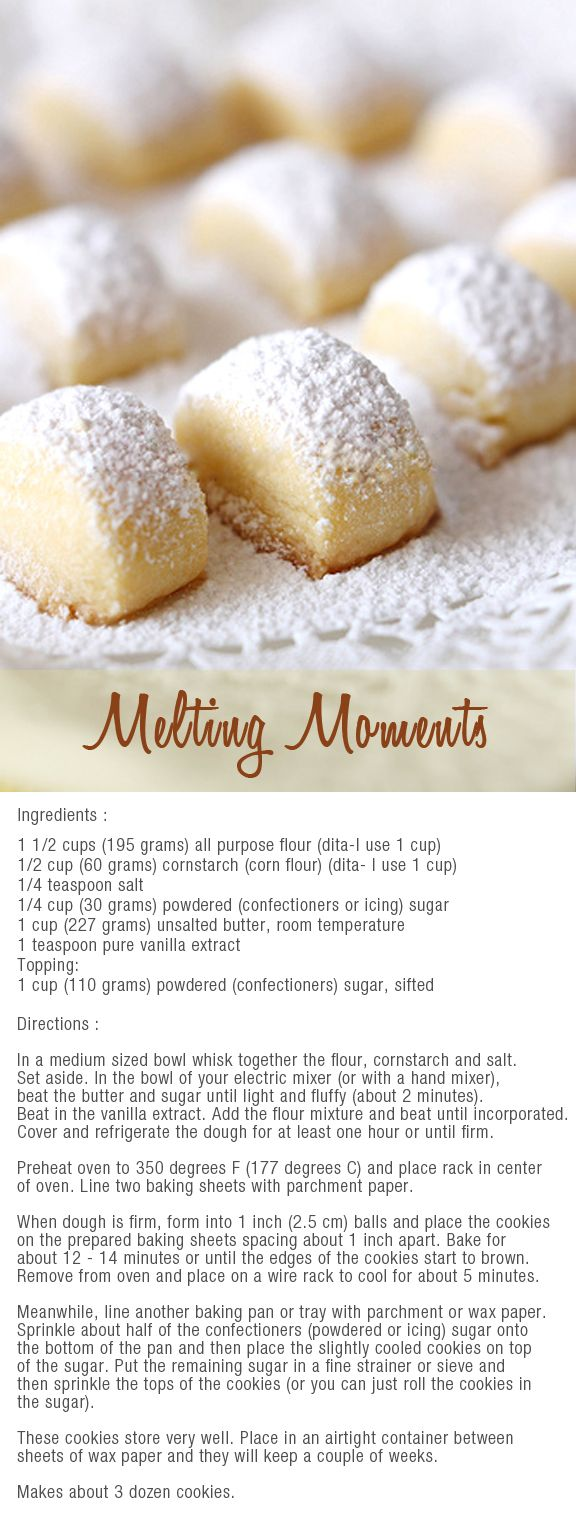melting moments bites
