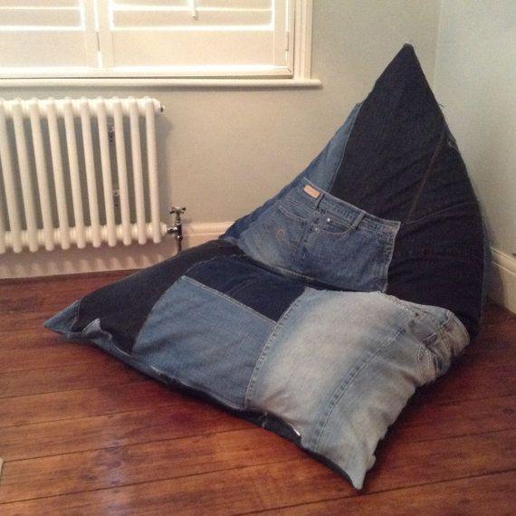 Bean Bag Wedge Chair Gaming Chair Floor Cushion. Handmade