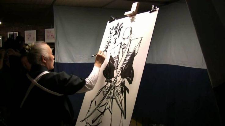 Hiroshi Hirata live drawing at Angouleme