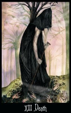 The Goth Tarot- The Death  --  If you love Tarot, visit me at www.WhiteRabbitTarot.com