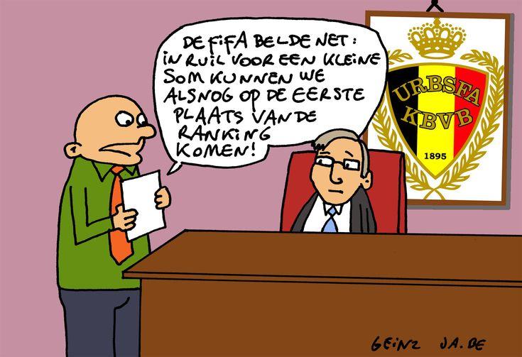 #Cartoon 05/06: eerste plaats FIFA-ranglijst voor Rode Duivels?