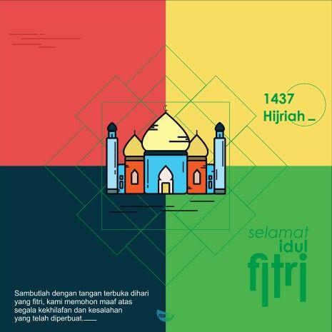 Happy ied mubarak 1 syawal 1437 hijriah