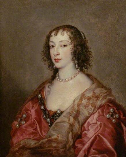 Queen Henrietta Maria (1609–1669) by Anthony van Dyck  Oil on canvas, 93 x 79 cm (estimated) Collection: The Chequers Trust