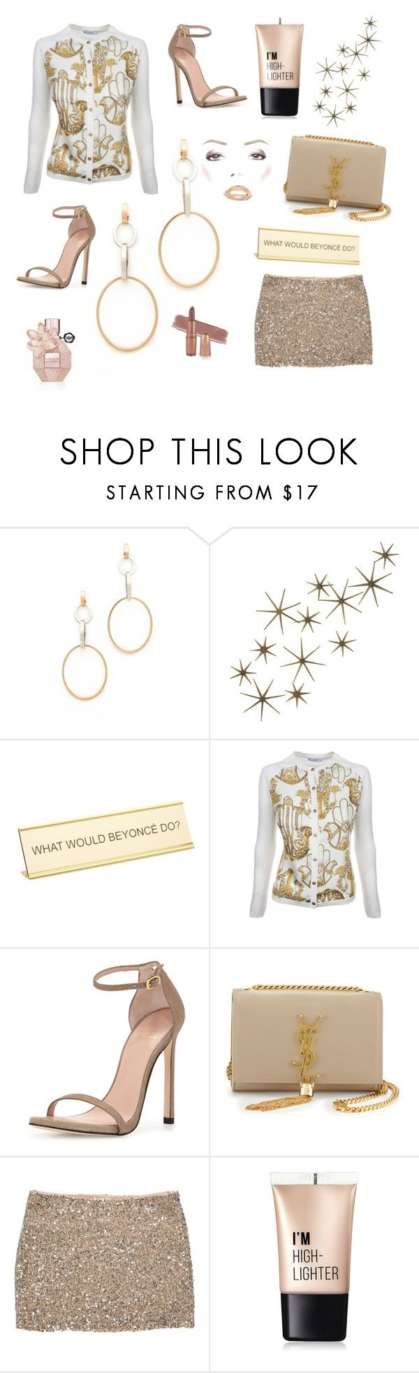 """Untitled #47"" by lilacgrace2 ❤ liked on Polyvore featuring Vita Fede, Global Views, He Said, She Said, Versace, Stuart Weitzman, Yves Saint Laurent, Haute Hippie and Charlotte Russe"