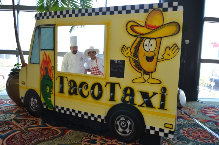 Taco Taxi Food Truck [for a Corporate Event] by Ideal Party Decorators - www.idealpartydecorators.com