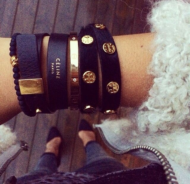 Black and gold accesories celine