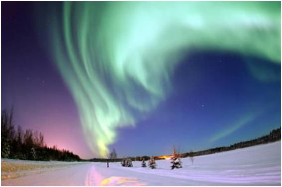 Aurora Borealis:   Undoubtedly one of the most beautiful events to occur in our world, the Aurora Borealis, also known as the Northern Lights, has both astounded and amazed people since it was first discovered.