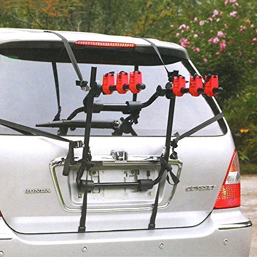 Bike Car Rack Accessories - MVPower 3Bike Trunk Mount Rack Folding Hitch Mounted Car Bicycle Carrier Hitch Mount Rack *** Find out more about the great product at the image link.
