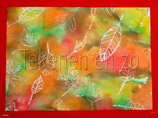 Tekenen en zo: schilderen met vloeipapier en wasco krijt