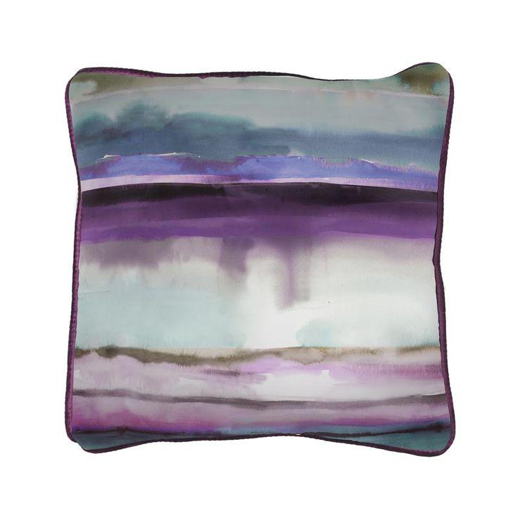 Voyage Maison Jadu Indigo Large Cushion Available at www.thegreatbritishhome.com #madeinbritain #homedecor #cushion #thegreatbritishhome #brightcushion #watercolour #voyagemaison