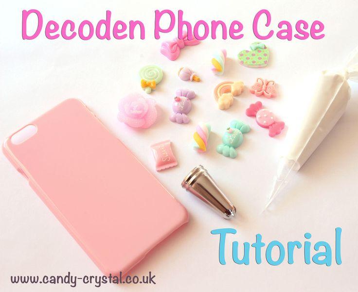 DIY Decoden Phone Case Tutorial - Candy Crystal Blog - UK DIY Deco & Kawaii Craft Supplier Blog Craft Supplies - www.candy-crystal.co.uk/blog