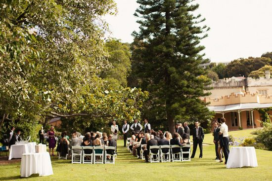 our ceremony spot - Vaucluse House