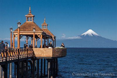 Frutillar, Llanquihue lake and Osorno Volcano, Chile
