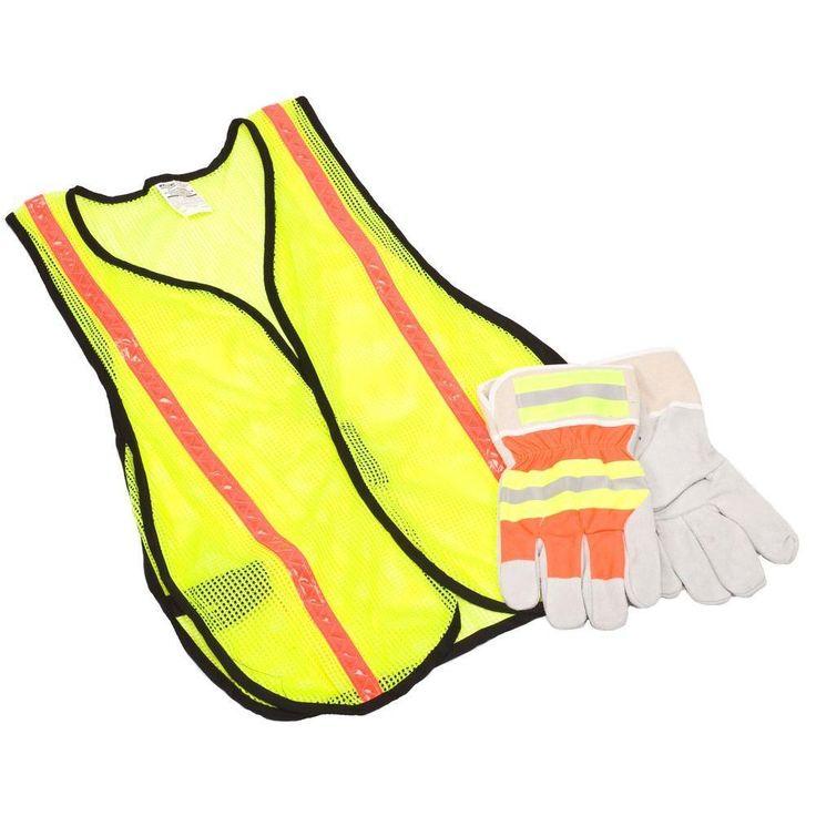 Safety Works 10123584 Safety Vest & Glove Combo Kit