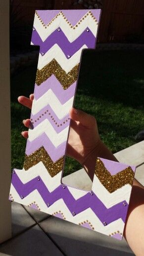 Chevron letter for my little