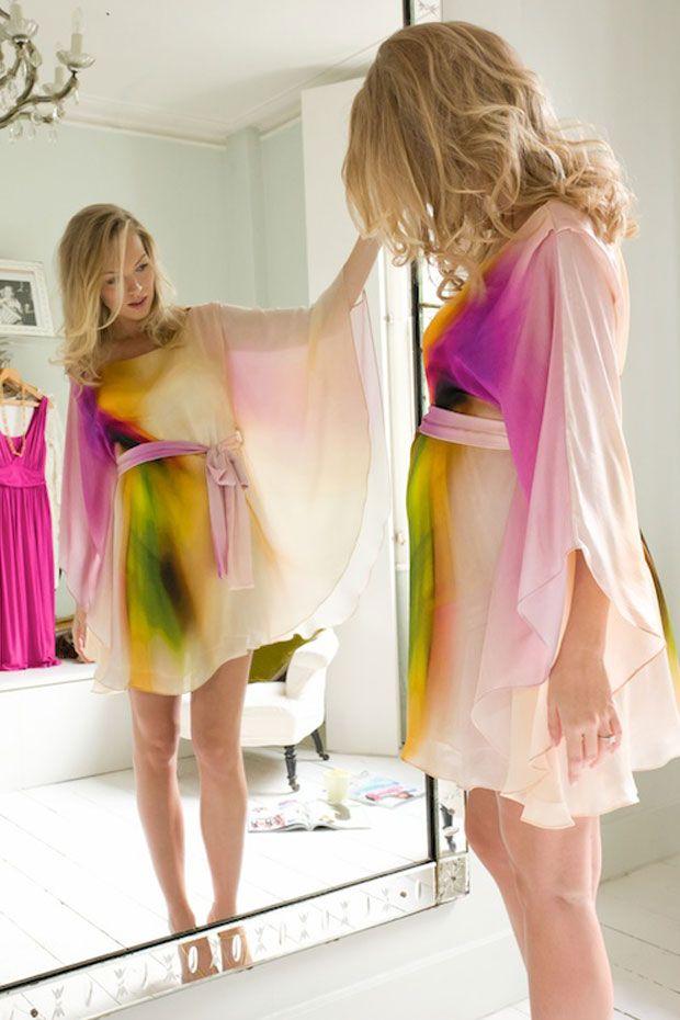 Vanessa Knox Amandine Silk Print Maternity Party Dress   Maternity Clothes   Maternity Dresses