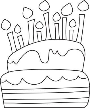 Digital Stamp - Birthday Cake