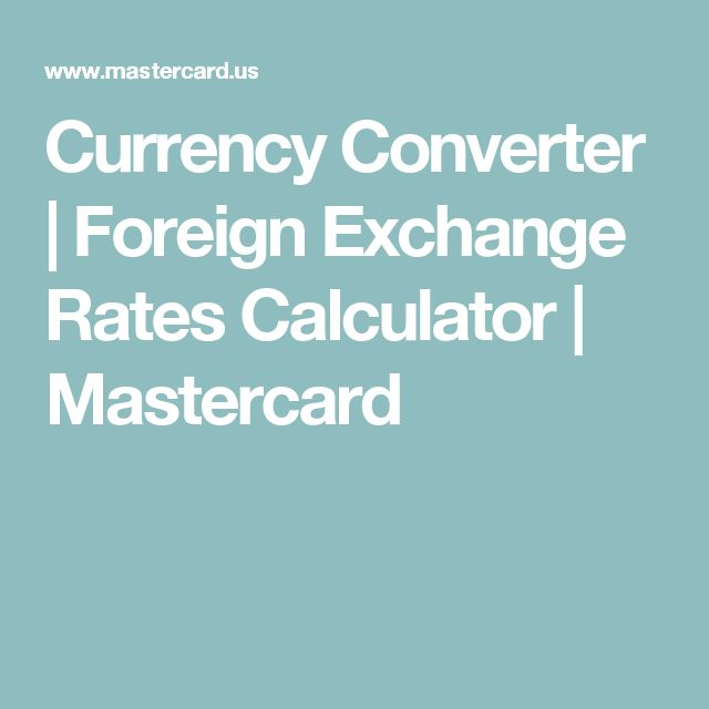 Mastercard forex rate