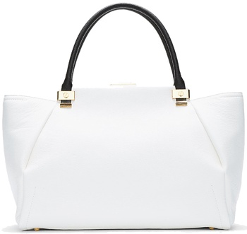 All White Handbags, Pure & Bright - Lanvin Large White Trilogy Tote