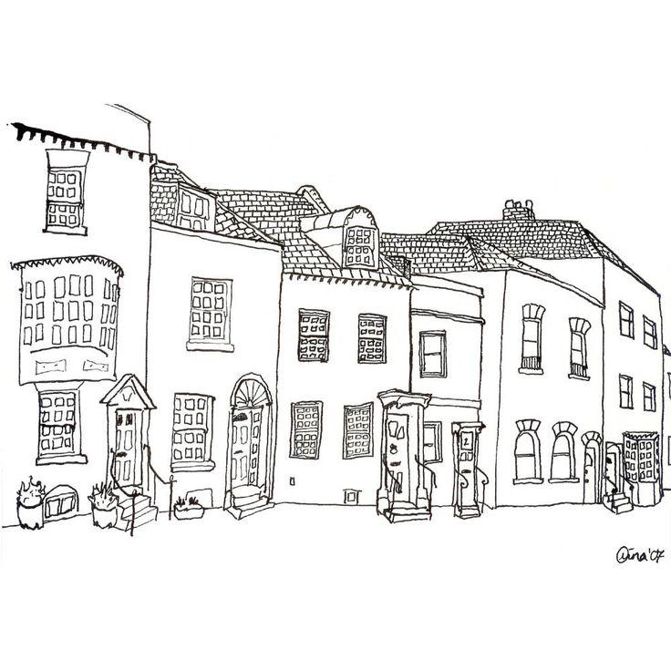 A Row of Odd Houses - 4 x 6. $3.00, via Etsy.