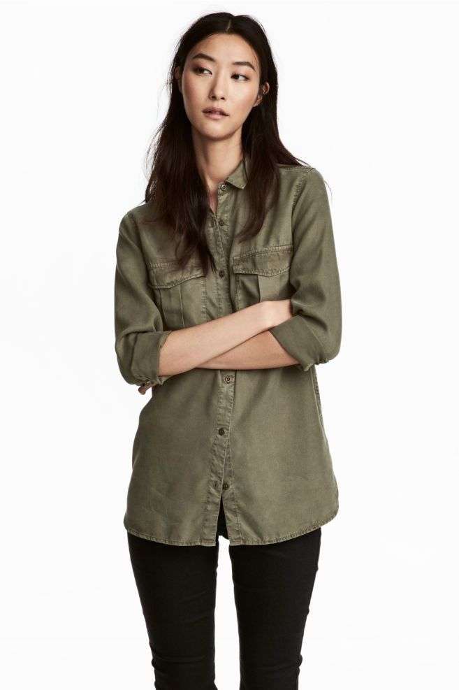 new style c1c3f 7b22c Camicia casual in lyocell | Icy Summer Style nel 2019 ...