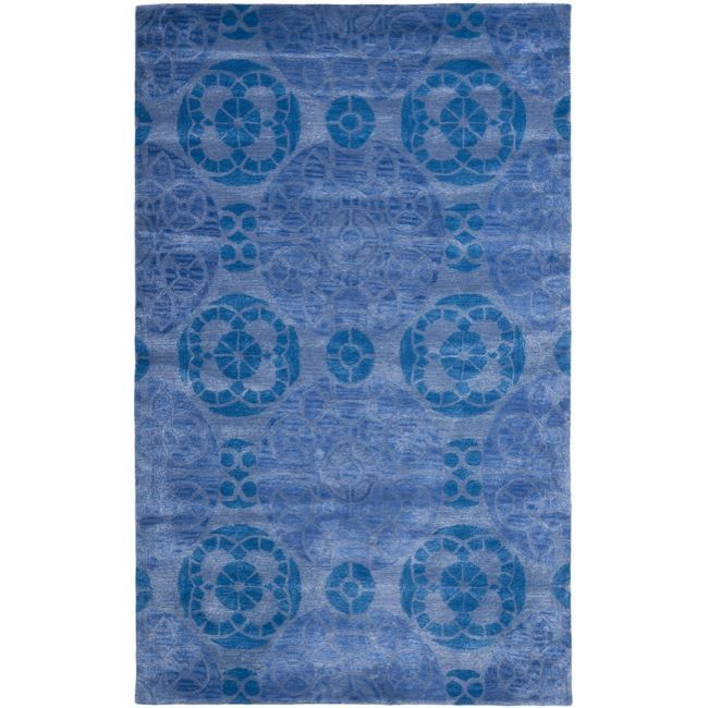 7 Round Or X 10 14 Anchor Your Dining Set Living Room Seating Group In Chic Style With This Hand Tufted Wool Rug Showcasing A Medallion Motif Blue