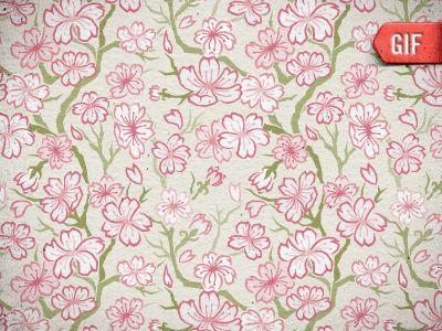 Animated sakura pattern process for Tealet by Jon Stapp | atomicvibe www.tealet.com