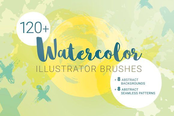 Watercolor Brushes For Illustrator By Stewsha On Graphicshive