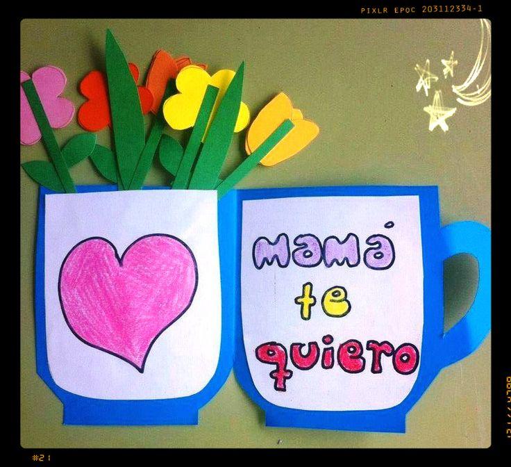 Soy Preescolar: #Creatividad para el Día de la #Madre #Manualidades para Celebrar: Queda poco tiempo, pero aún podemos asegurarnos de que mamá inicie su día con una deliciosa taza de café. ツ Enseñanza #Preescolar; #Primavera en la #Escuela