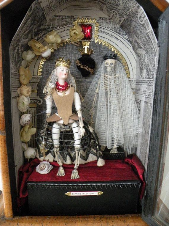Shadow Box Curiosity BoxLowbrow Antique Doll by jennieshox on Etsy