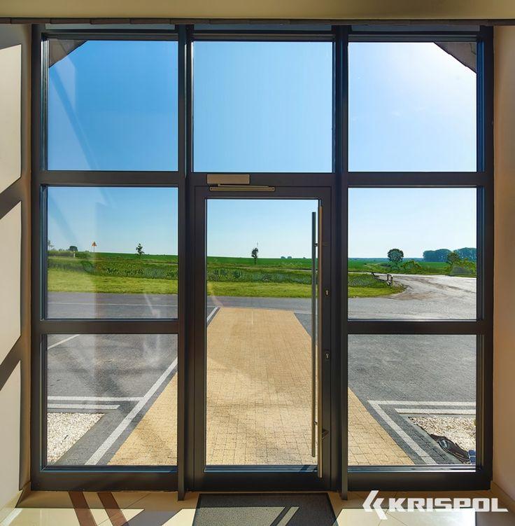 Krispol.pl - Drzwi aluminiowe, drzwi wejściowe, fasada, stolarka aluminiowa