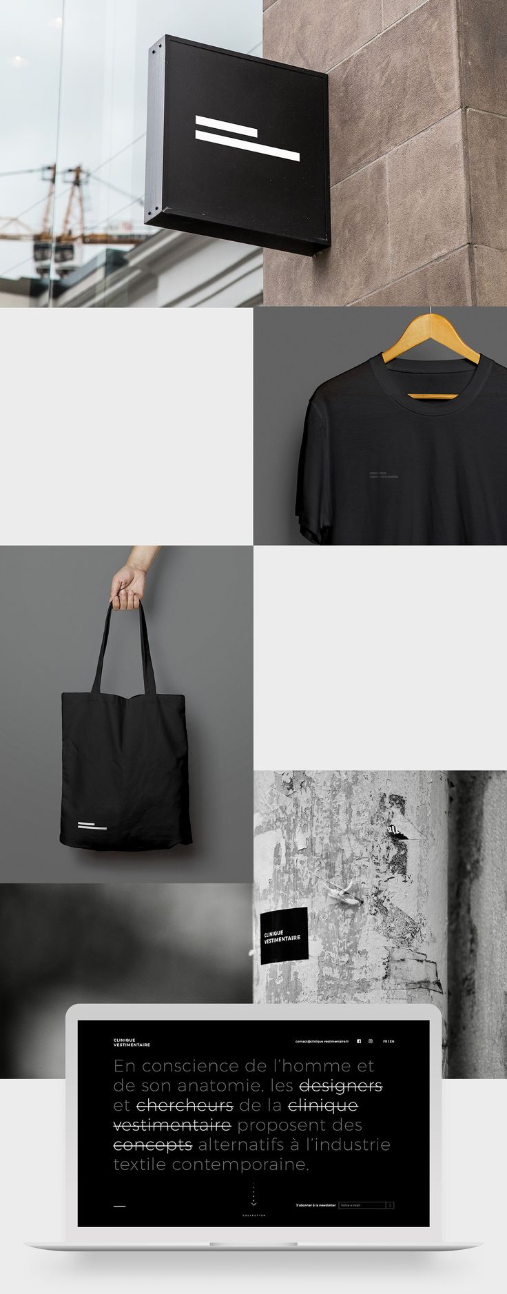 Elegant Brand Identity for Clinique Vestimentaire