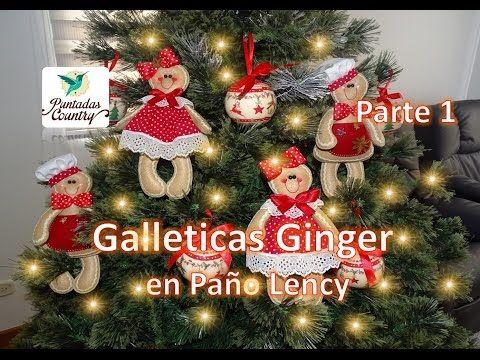 Parte 1 Galleticas Ginger en Paño Lency - YouTube