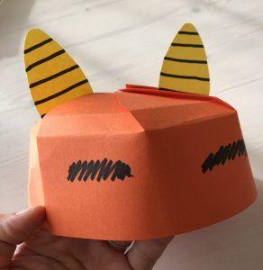 子供と楽しむ節分工作♪簡単可愛い!【画用紙で作る鬼のお面になる帽子、鬼キャップの作り方】学校の劇や幼稚園などのお遊戯の鬼役の衣装にもおすすめ♪