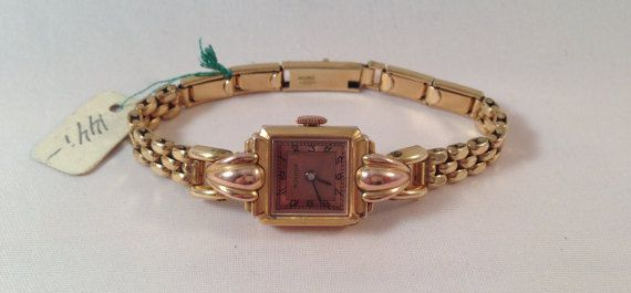 Womens watch vintage gold watch mechanical by StonebrookVintage