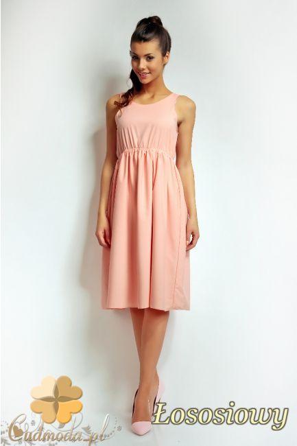 Rozkloszowana sukienka z marszczeniami marki Nommo.  #cudmoda #moda #ubrania #odzież #styl #clothes #dresses