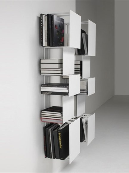 Wall-mounted steel bookcase BUKVA by @Living Divani | #Design Victor Vasilev #book