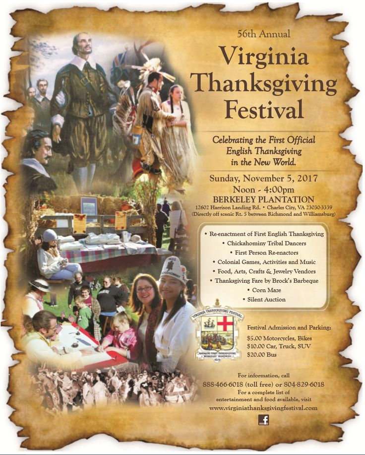 Virginia Thanksgiving Festival flyer Festival flyer