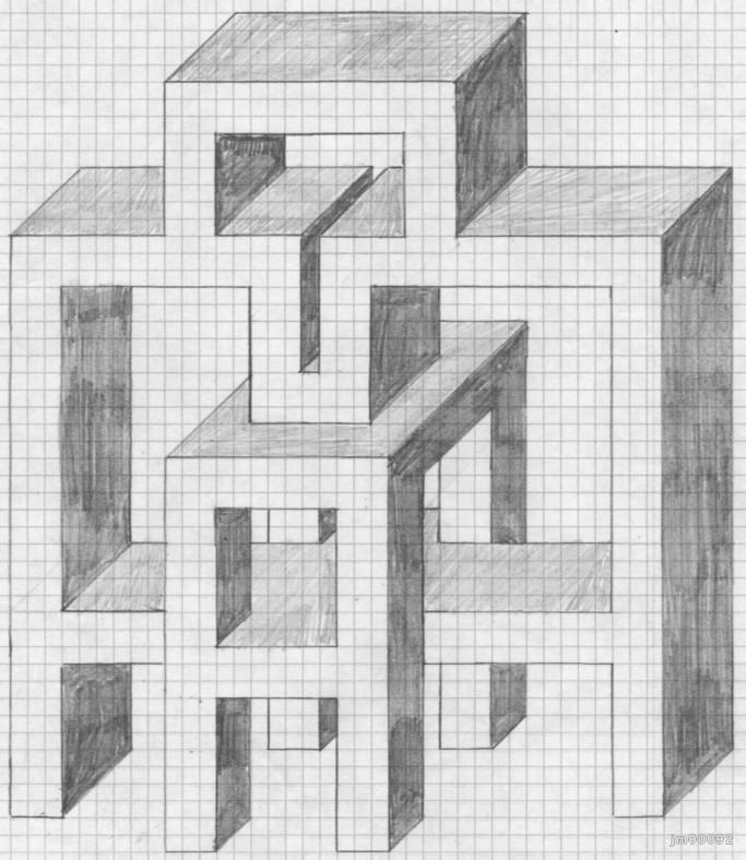 рисунки на бумаге в клетку по клеточкам