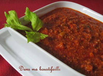 Dans ma Boustifaille !: * Sauce à spaghetti Italien de Franden *