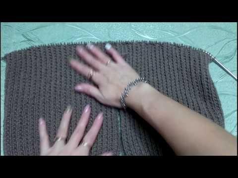 Мужской пуловер(продолжение) Вяжем реглан! - YouTube