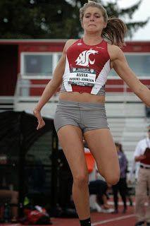 WSU's Alissa Brooks-Johnson leads Pac-12 heptathlon at the break...