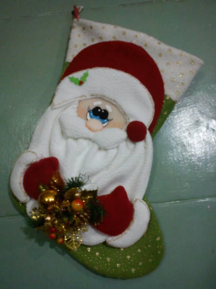 Bota, navideña para puerta