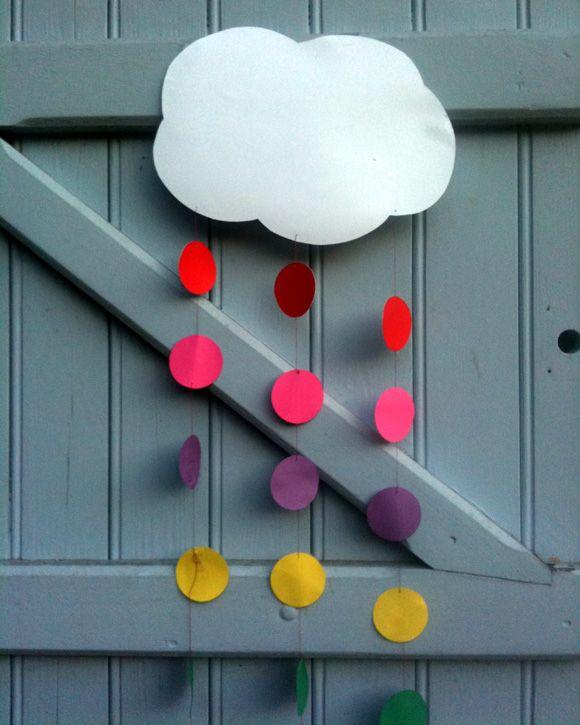 rainbow-nuage pour la déco d'une fête arc-en-ciel