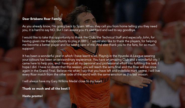 Corona farewells Brisbane Roar FC | Brisbane Roar
