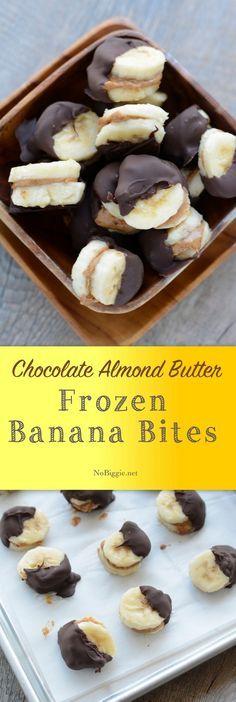 Healthy frozen banana bites   NoBiggie.net